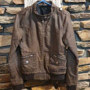 Size 8 BILLABONG brown jacket